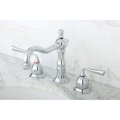 Heritage Double Handle Widespread Bathroom Faucet with Brass Pop-Up Drain Finish: Polished Chrome