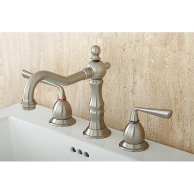 Heritage Double Handle Widespread Bathroom Faucet with Brass Pop-Up Drain Finish: Satin Nickel