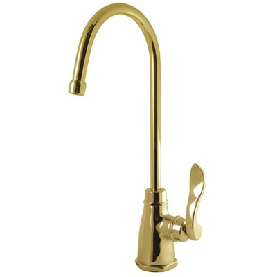 NuWave Gourmetier Single Handle Kitchen Faucet Finish: Polished Brass