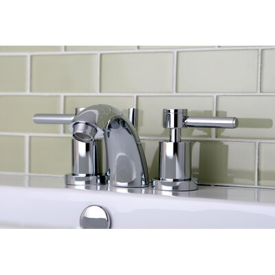 Concord Double Handle Mini Widespread Bathroom Faucet with Brass Pop-Up Drain Finish: Polished Chrome
