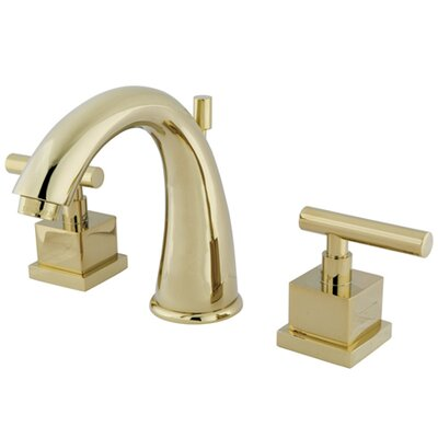 Claremont Double Handle Widespread Bathroom Faucet with Brass Pop-Up Drain Finish: Polished Brass