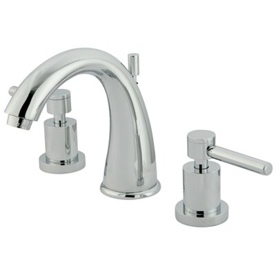 Concord Double Handle Widespread Bathroom Faucet with Brass Pop-Up Drain Finish: Polished Chrome