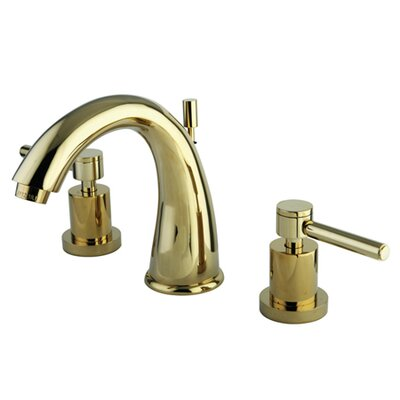 Concord Double Handle Widespread Bathroom Faucet with Brass Pop-Up Drain Finish: Polished Brass