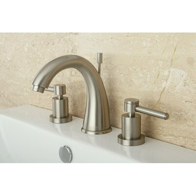 Concord Double Handle Widespread Bathroom Faucet with Brass Pop-Up Drain Finish: Satin Nickel