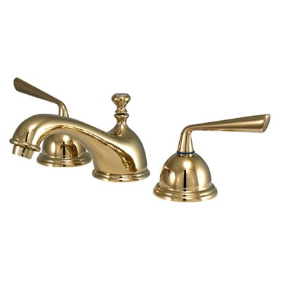Silver Sage Double Handle Widespread Bathroom Faucet with Brass Pop-Up Drain Finish: Polished Brass