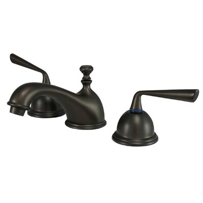 Silver Sage Double Handle Widespread Bathroom Faucet with Brass Pop-Up Drain Finish: Oil Rubbed Bronze