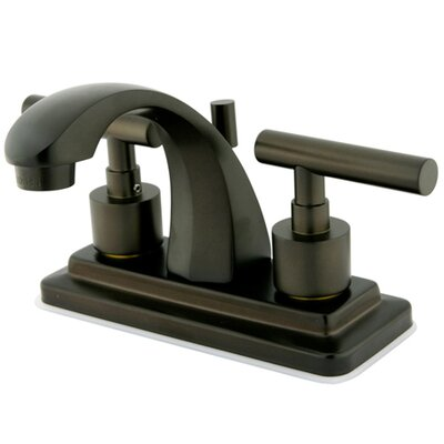 Manhattan Double Handle Centerset Bathroom Faucet with Brass Pop-up Finish: Oil Rubbed Bronze