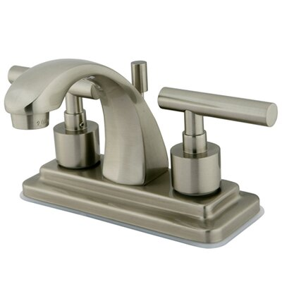 Manhattan Double Handle Centerset Bathroom Faucet with Brass Pop-up Finish: Satin Nickel