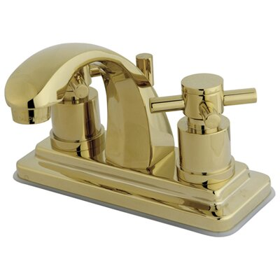 Concord Double Handle Centerset Bathroom Faucet with Brass Pop-Up Drain Finish: Polished Brass