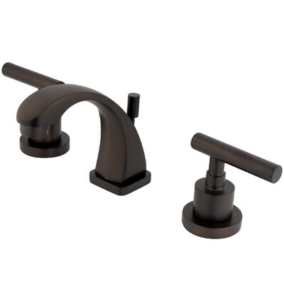 Manhattan Double Handle Widespread Bathroom Faucet with Brass Pop-up Finish: Oil Rubbed Bronze