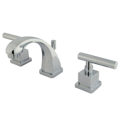 Claremont Mini Widespread Double Handle Bathroom Faucet with Brass Pop-Up Drain Finish: Polished Chrome