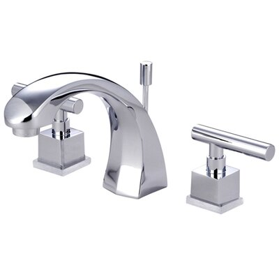 Claremont Double Handle Widespread Bathroom Faucet with Brass Pop-Up Drain Finish: Polished Chrome