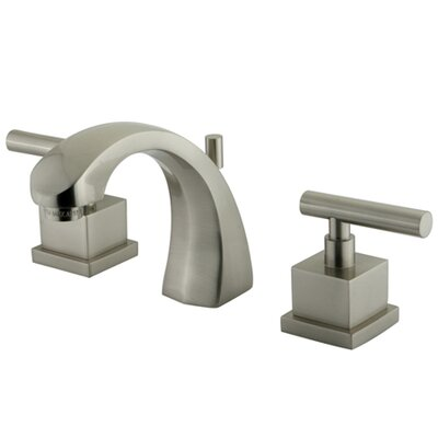 Claremont Double Handle Widespread Bathroom Faucet with Brass Pop-Up Drain Finish: Satin Nickel