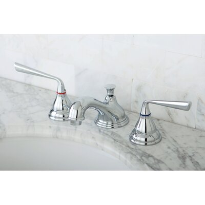 Silver Sage Double Handle Widespread Bathroom Faucet with Pop-Up Drain