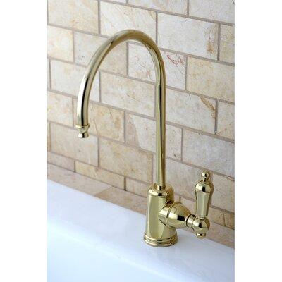 Restoration Single Handle Kitchen Faucet Finish: Polished Brass