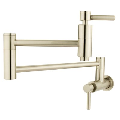 Concord Wall Mount Pot Filler Finish: Satin Nickel