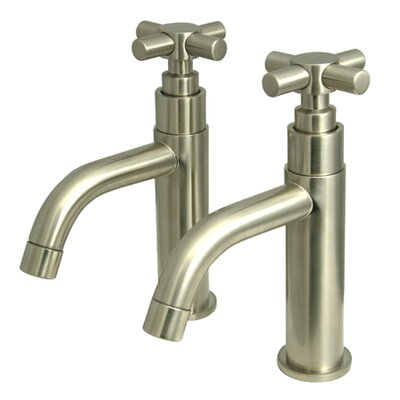 Concord Double Handle Basin Faucet Set Finish: Satin Nickel