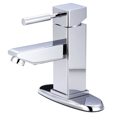Concord Single Handle Bathroom Faucet with Push-Up and Deck Plate Finish: Polished Chrome