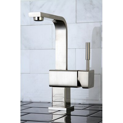 Concord Single Handle Mono Deck Bathroom Faucet with Push-Up Drain Finish: Satin Nickel