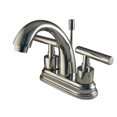 Manhattan Double Handle Centerset Bathroom Faucet with Pop-Up Drain Finish: Polished Chrome