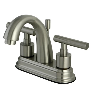 Manhattan Double Handle Centerset Bathroom Faucet with Pop-Up Drain Finish: Satin Nickel