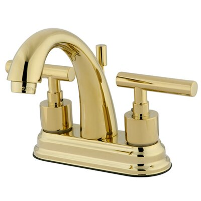 Manhattan Double Handle Centerset Bathroom Faucet with Brass Pop-up Finish: Polished Brass
