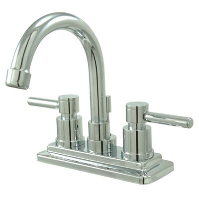 Concord Double Handle Centerset Bathroom Faucet with Brass Pop-Up Drain Finish: Polished Chrome