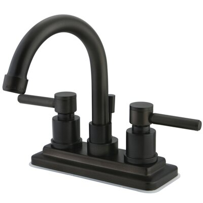 Concord Double Handle Centerset Bathroom Faucet with Brass Pop-Up Drain Finish: Oil Rubbed Bronze