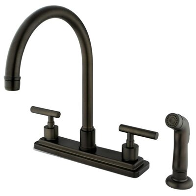 Manhattan Double Handle Kitchen Faucet Finish: Polished Brass, Side Spray: Without Side Spray
