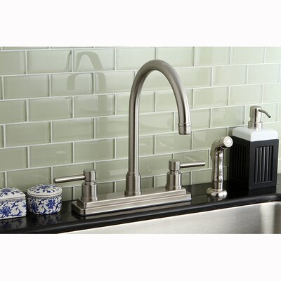 Concord Double Handle Kitchen Faucet with Side Spray