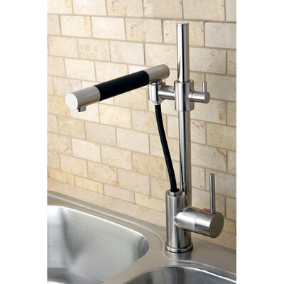 Concord Pull Out Single Handle Kitchen Faucet Finish: Satin Nickel
