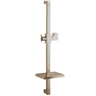 Claremont 23.6 Square Shower Slide Bar with Soap Dish Finish: Satin Nickel
