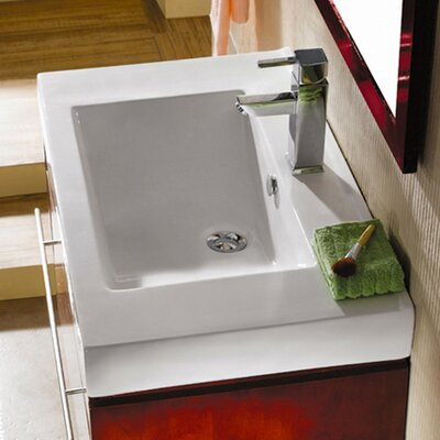 Mission 24 Wall Mounted Bathroom Sink with Overflow