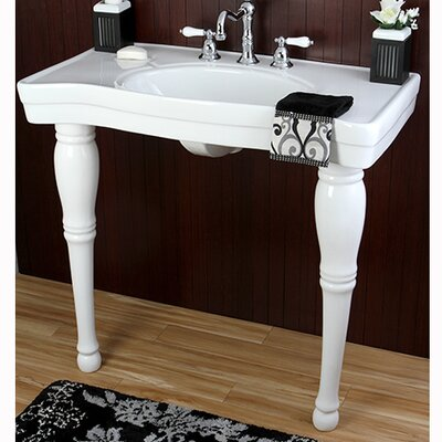 Imperial Ceramic 37 Console Bathroom Sink with Overflow