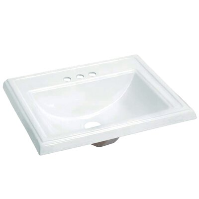 Concord Vitreous China Rectangular Drop-In Bathroom Sink with Overflow