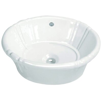 Fauceture Single Bowl Circular Vessel Bathroom Sink with Overflow