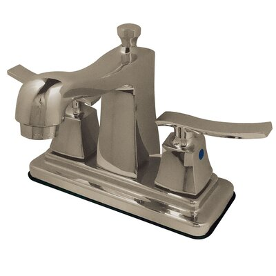 Queensbury Centerset Lavatory Faucet Finish: Satin Nickel