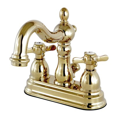 Essex Centerset Lavatory Faucet with Drain Assembly Finish: Polished Brass