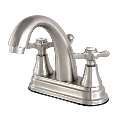 Essex Centerset Lavatory Faucet with Drain Assembly Finish: Satin Nickel