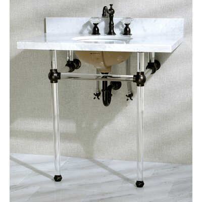 Templeton Ceramic 13 Console Bathroom Sink with Overflow Mount FInish: Oil Rubbed Bronze
