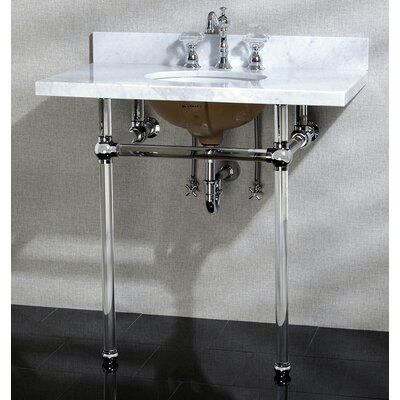 Templeton Ceramic 13 Console Bathroom Sink with Overflow Mount FInish: Polished Chrome