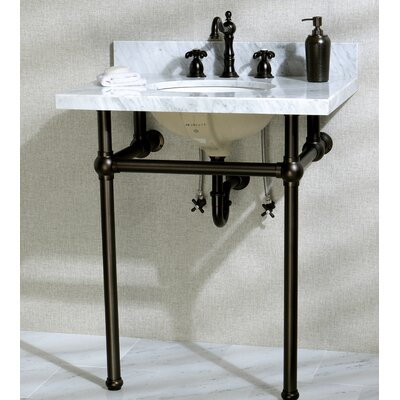 Templeton Ceramic 30 Console Bathroom Sink with Overflow Mount FInish: Oil Rubbed Bronze