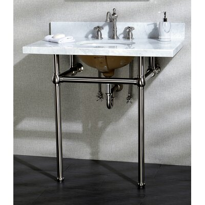 Templeton 12 Console Bathroom Sink Mount FInish: Satin Nickel