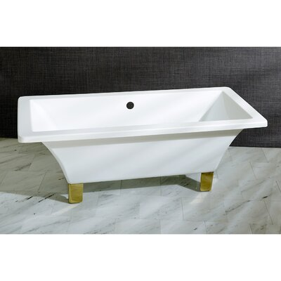 Aqua Eden 71 x 31.5  Soaking Bathtub Color: Polished Brass