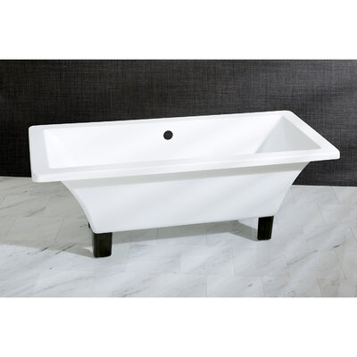 Aqua Eden 71 x 31.5  Soaking Bathtub Color: Oil Rubbed Bronze