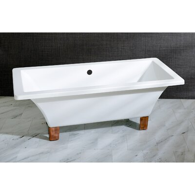Aqua Eden 71 x 31.5  Soaking Bathtub Color: Naples Bronze