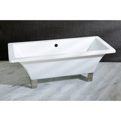 Aqua Eden 71 x 31.5  Soaking Bathtub Color: Satin Nickel
