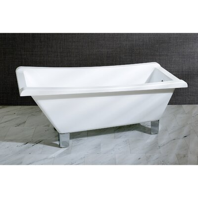 Aqua Eden 67 x 29.5 Soaking Bathtub Color: Chrome
