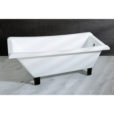 Aqua Eden 67 x 29.5 Soaking Bathtub Color: Oil Rubbed Bronze