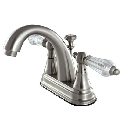 Wilshire Standard Centerset Bathroom Faucet with Drain Assembly Finish: Satin nickel